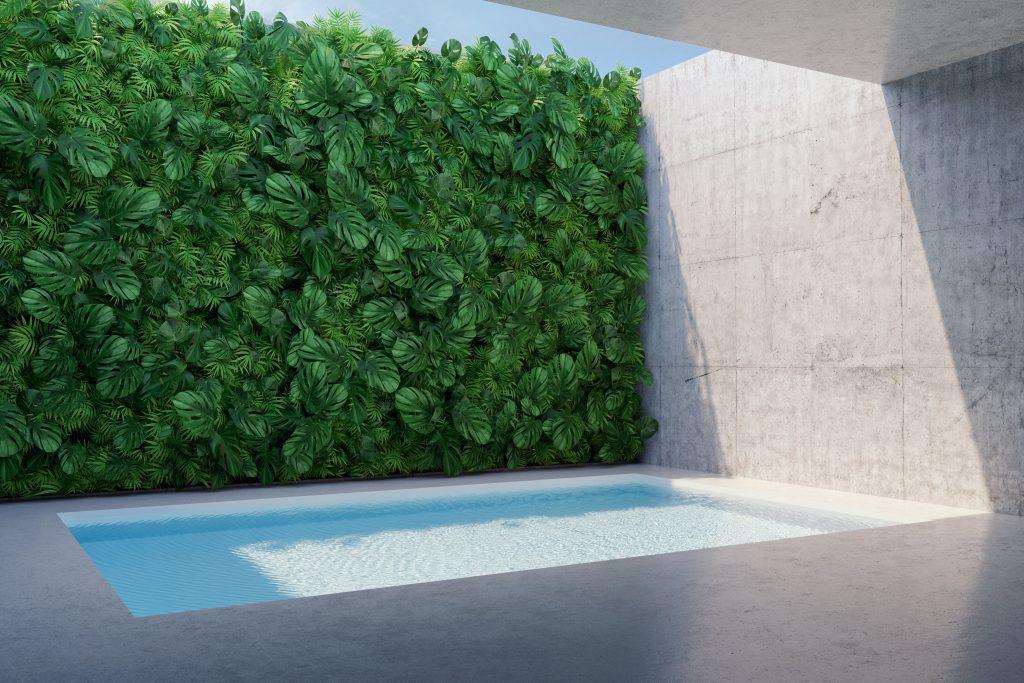 Urban oasis garden