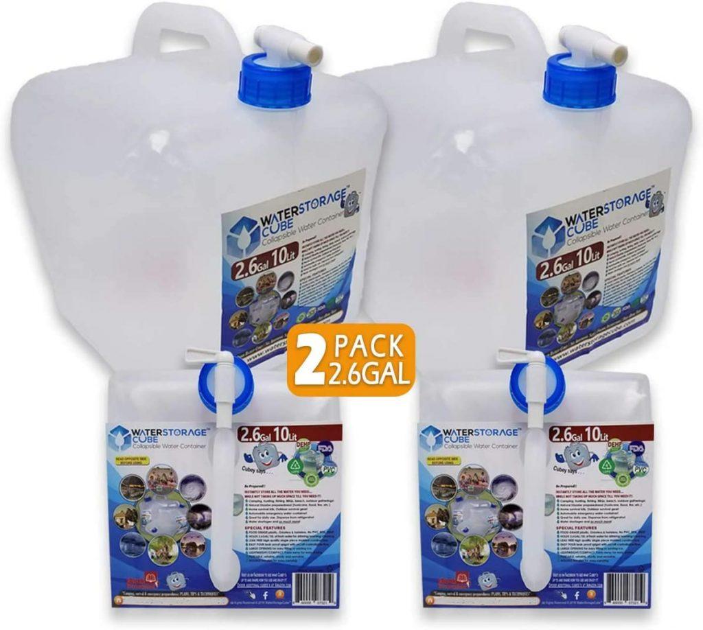 WaterStorageCube BPA Free Water Container with Spigot