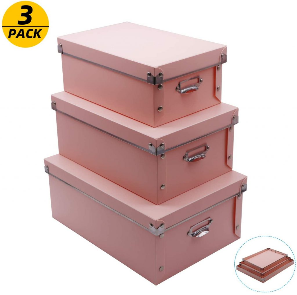 XUCHUN Foldable Storage Bins with Lid