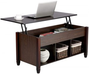 Yaheetech Lift Top Coffee Table with Hidden Storage