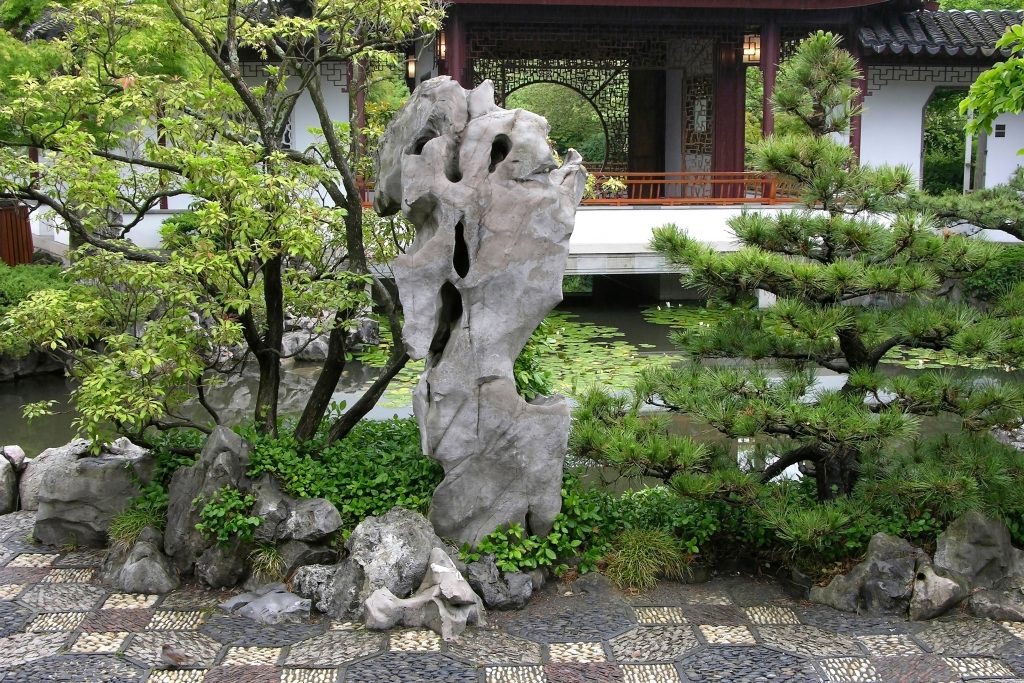 Rock in a Chinese garden