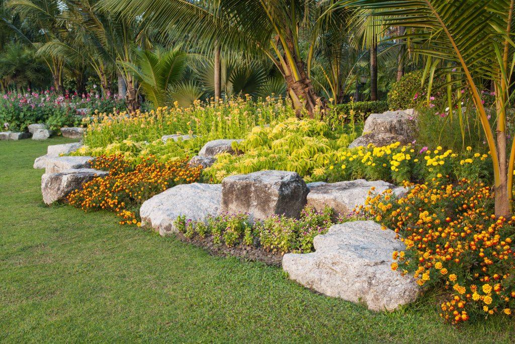 Felsengarten mit Felsblöcken
