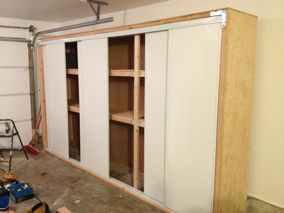 DIY Garage Storage Shelves With Door