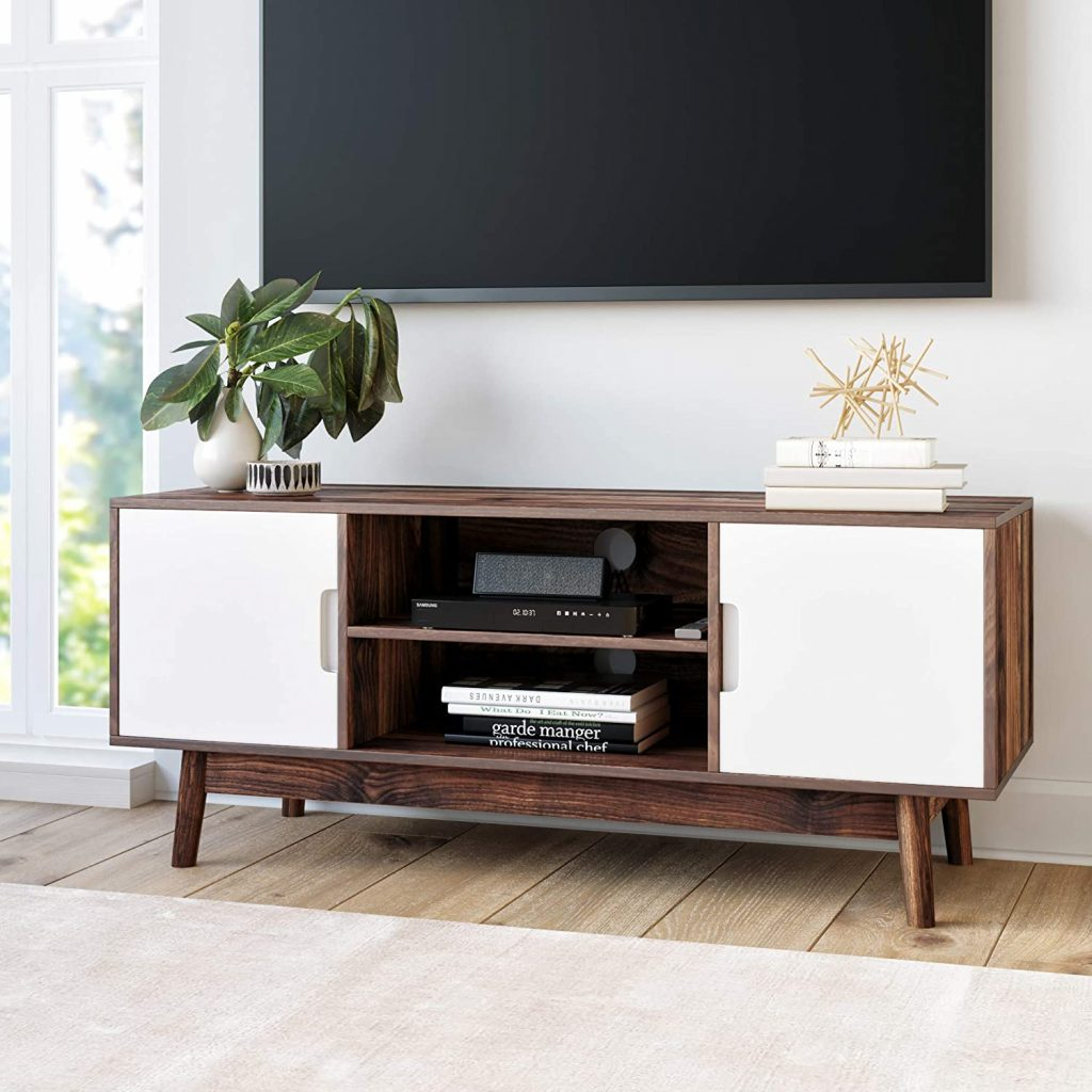 Nathan James Wesley Scandinavian TV Stand Media Console