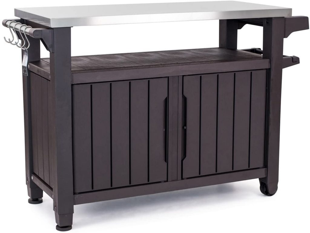 Keter Unity XL Portable Outdoor Table with Storage Cabinet