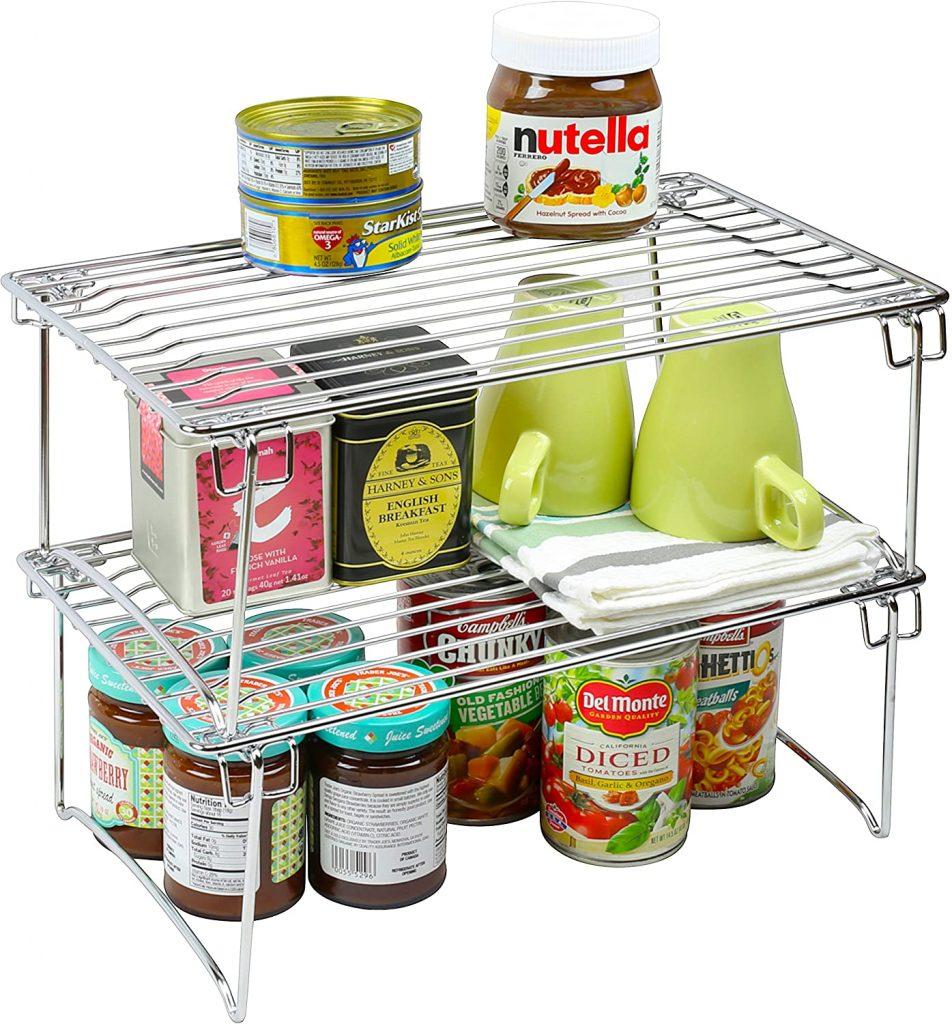 2 Pack - DecoBros Stackable Kitchen Cabinet Organizer