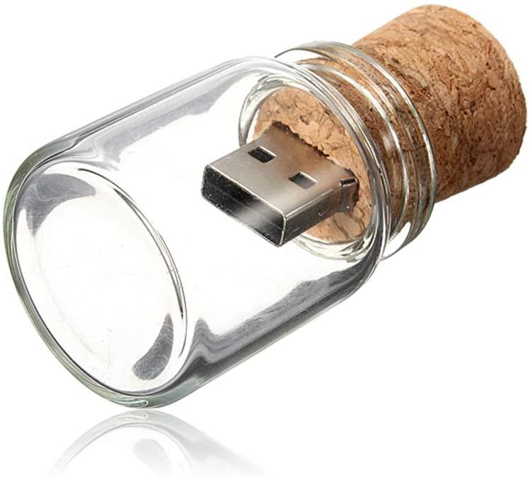 8GB Thumb Drive Glass USB Flash Drive Drift
