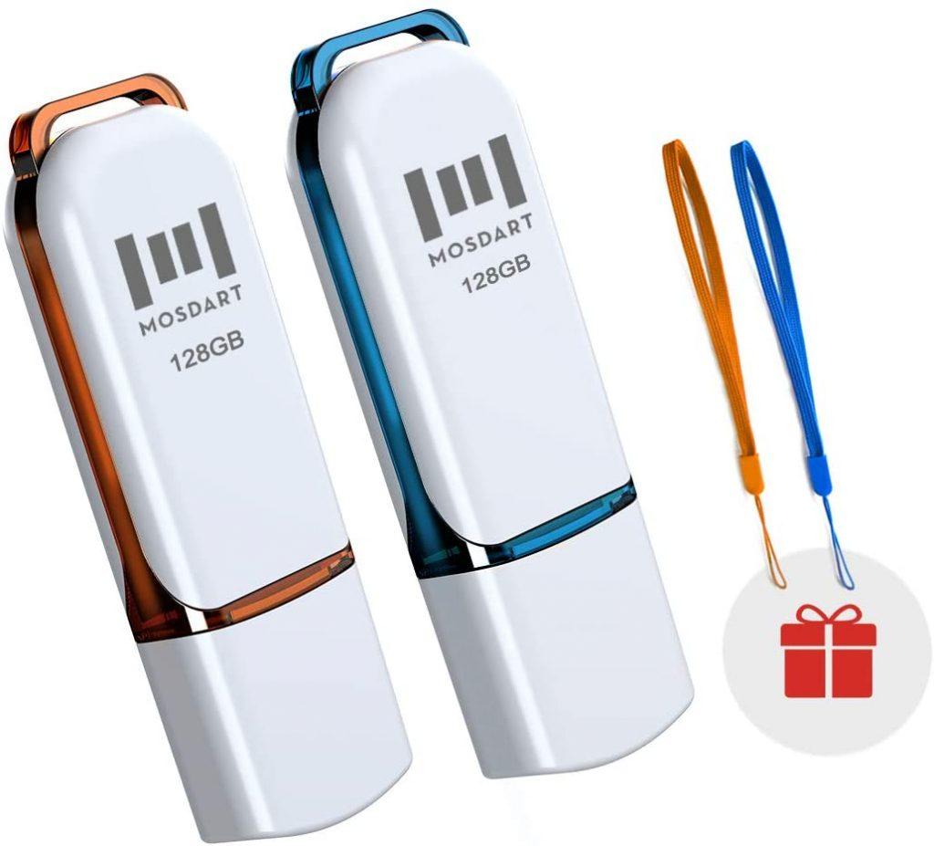 Mosdart 128 GB Flash Drive 2 Pack