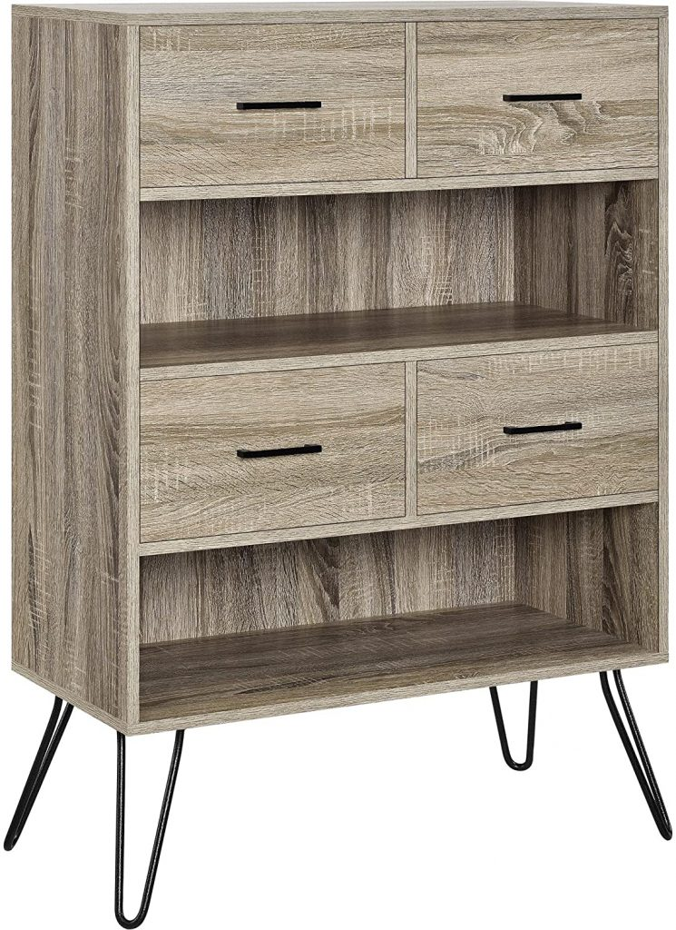 Ameriwood Home Landon Bookcase with Bins