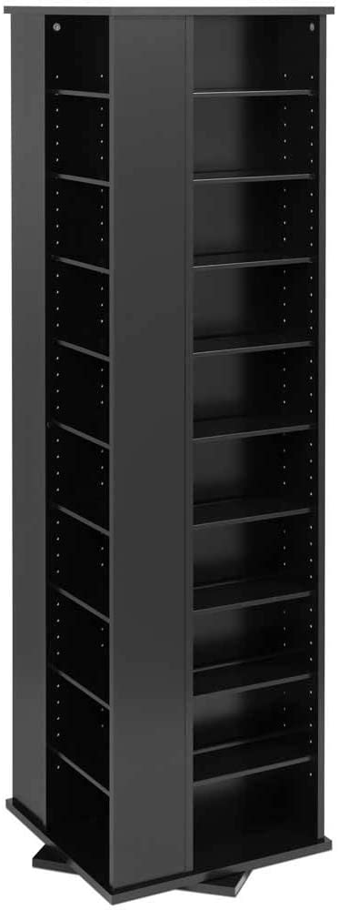 Prepac Large Four-Sided Spinning Tower Storage Cabinet