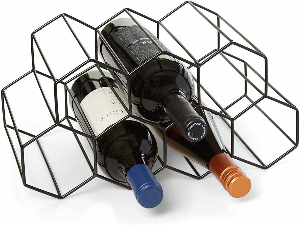 Countertop Wine Rack - 9 Bottle Wine Holder for Wine Storage