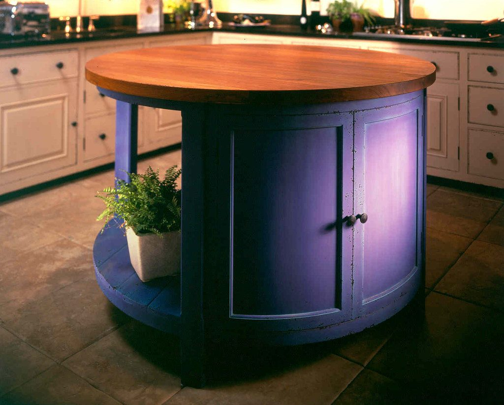 3 painted kitchen island