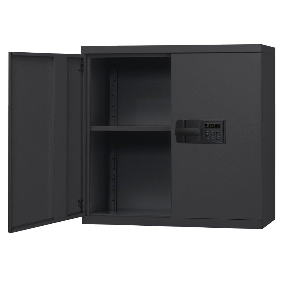 Sandusky Lee KDEW3012-09 Black Steel Wall Cabinet