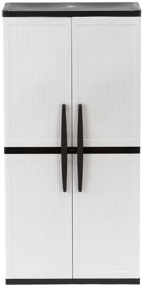 HDX 4-Shelf Plastic Multi-Purpose Cabinet