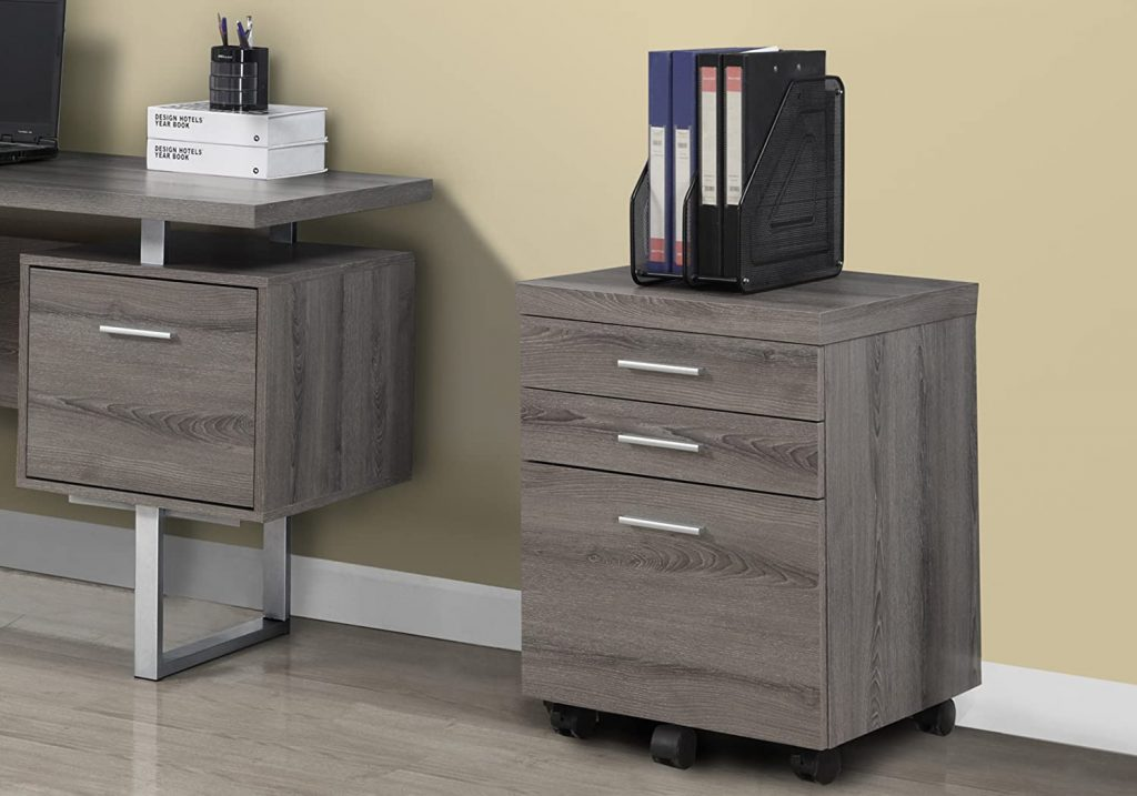 Monarch Specialties 3 Drawer File Cabinet