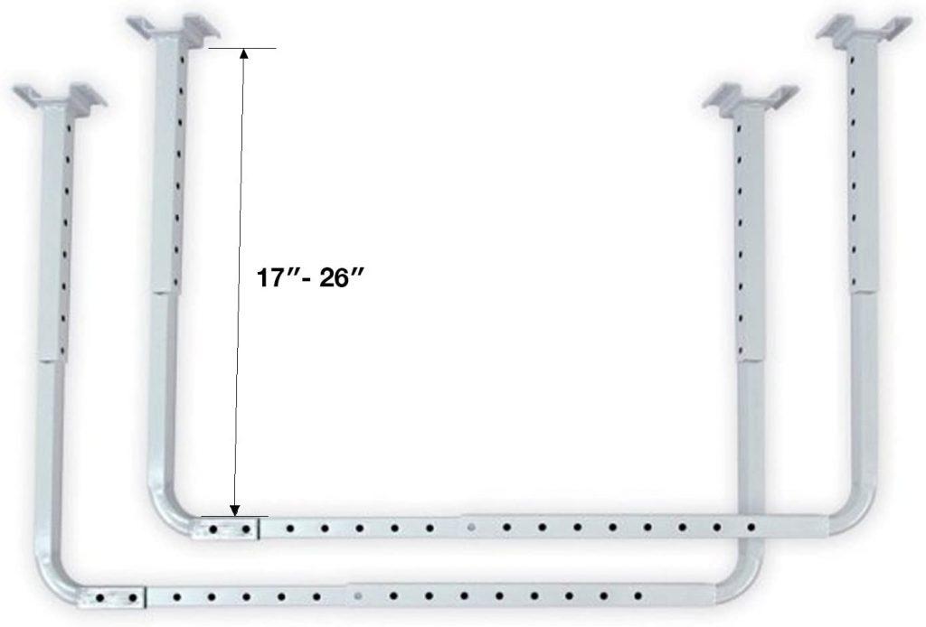 HyLoft Adjustable Garage Ceiling Mount Storage Rack Kit