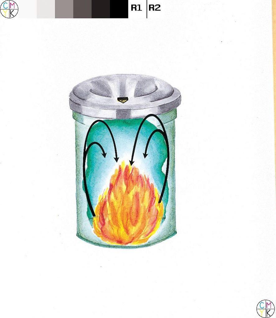 JUSTRITE Aluminum Round Trash Can