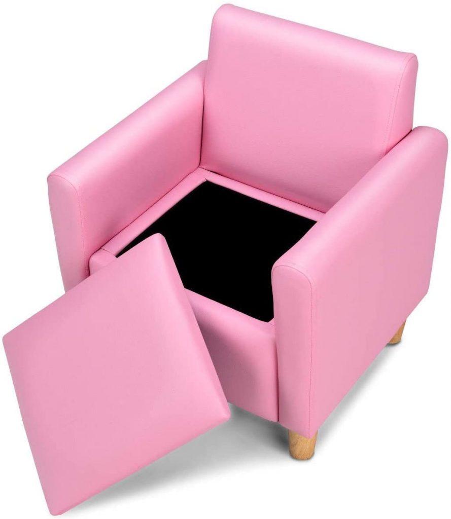 HONEY JOY Kids Sofa, Upholstered Armrest