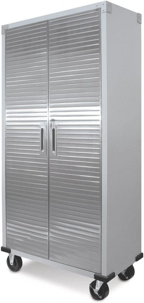Steel garage storage cabinet