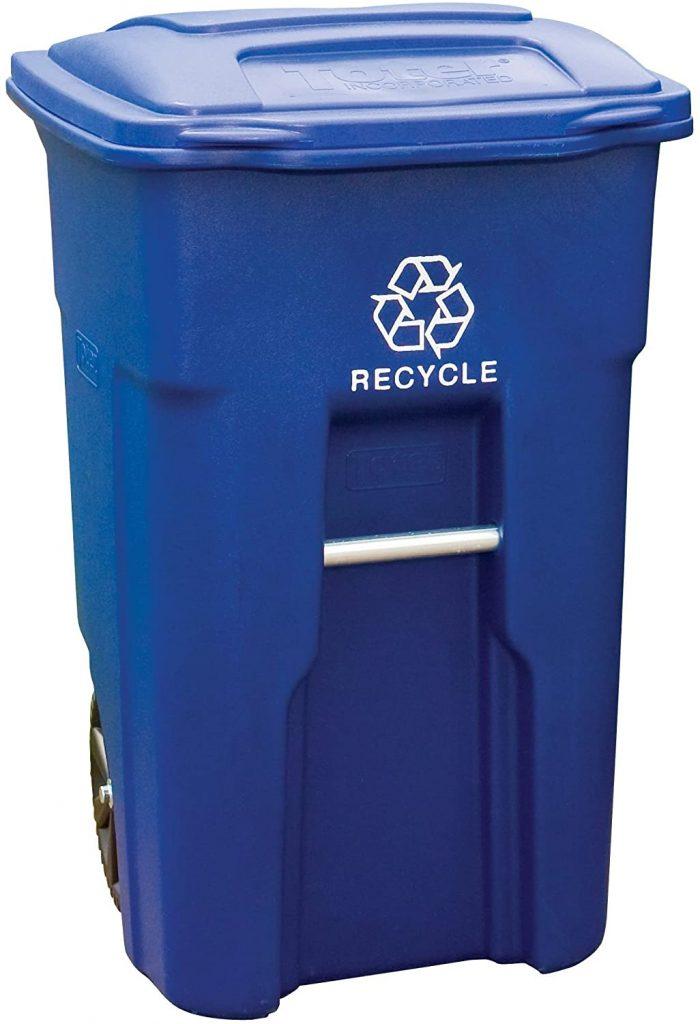 Toter 32 Gallon Wheel Recycle Bin