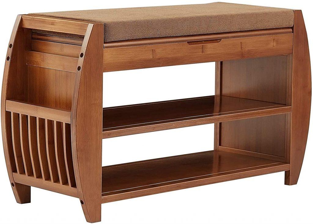 K KELBEL Bamboo Shoe Bench
