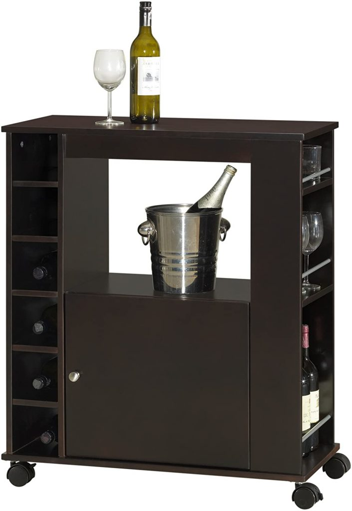 Baxton Studio Ontario Modern and Contemporary Wood Dry Bar