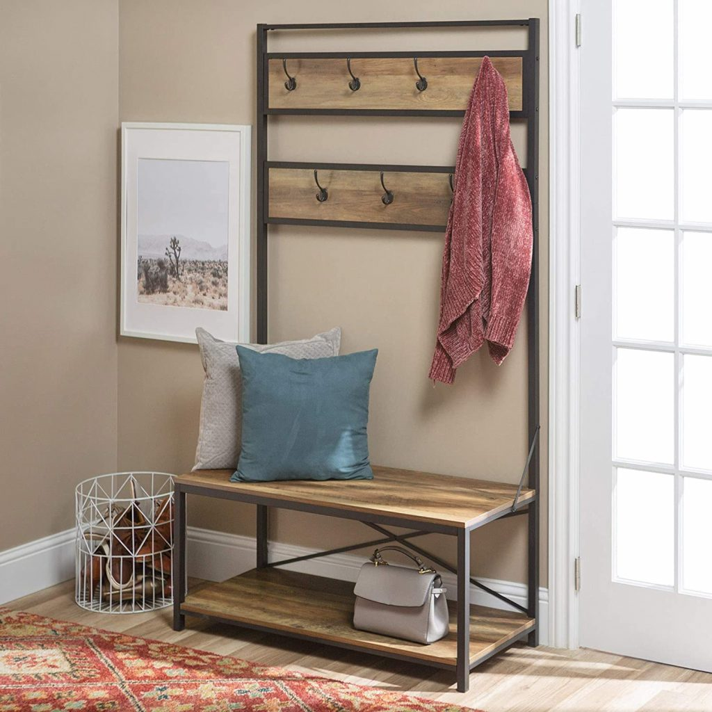WE Furniture Farmhouse Entry Bench