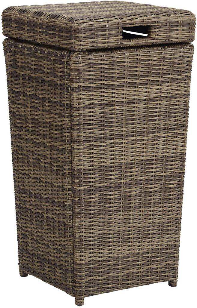 Crosley Furniture CO7306-WB Brandenton Outdoor Trash Bin