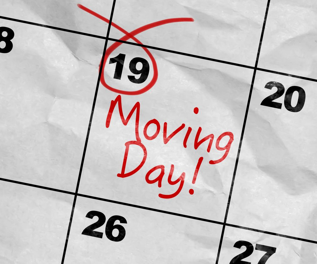 schedule the move on calendar