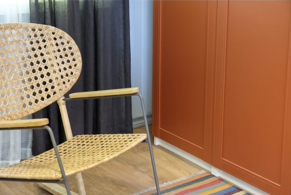 Rattan chair in the office