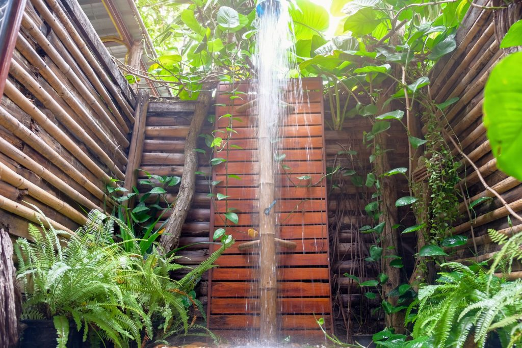 Tropical Wall Outdoor Shower