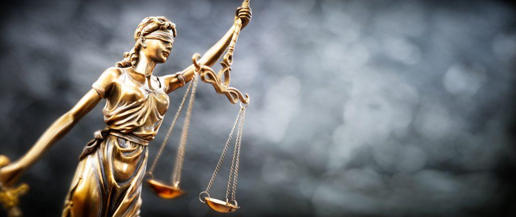 Legal law concept statue