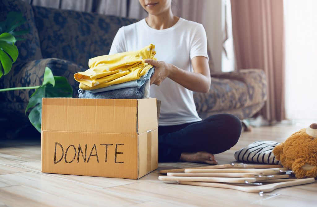 get rid of clothes or donate