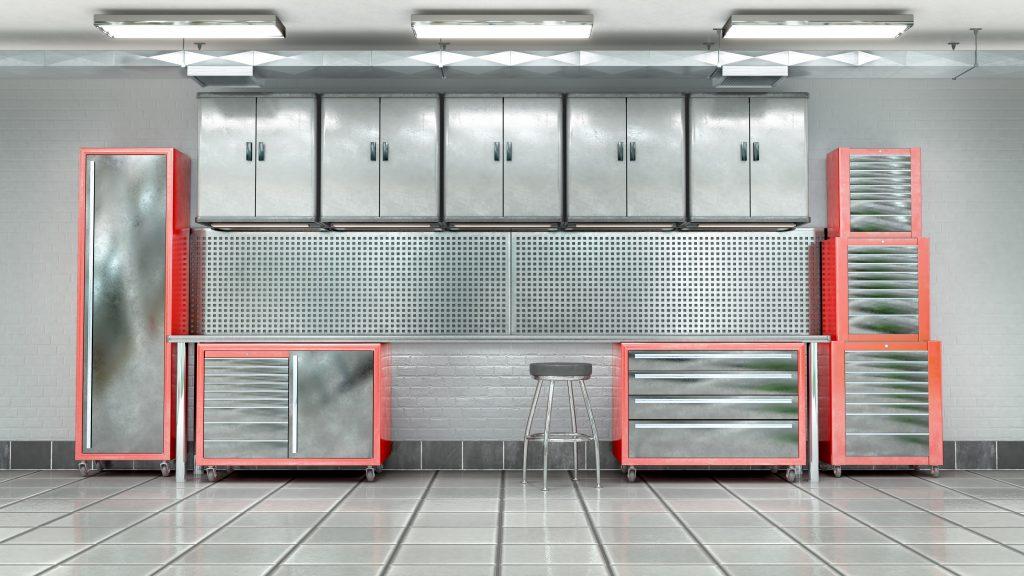 Garage metal tool cabinet