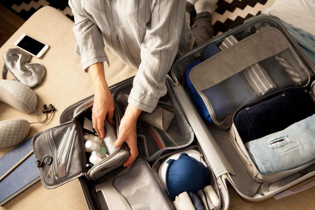 suitcase as storage bins