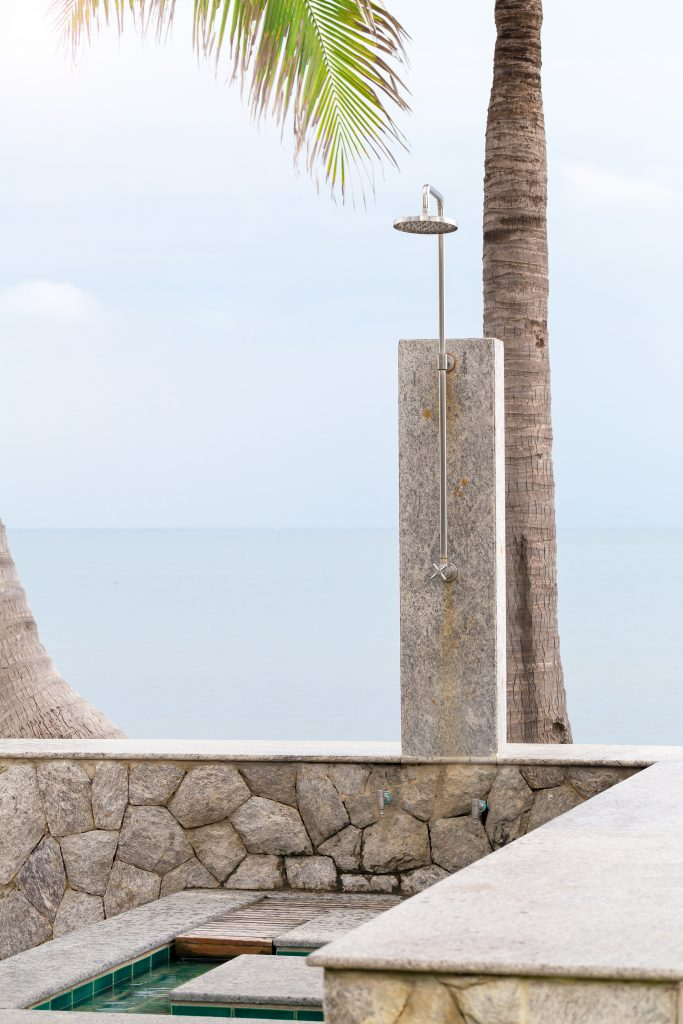 Minimal Concrete Outdoor Shower