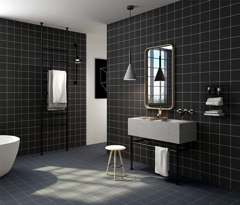 Black Mosaic Wallpaper
