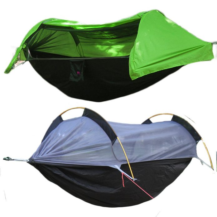 Camping Hammock With A Mosquito Net Cover