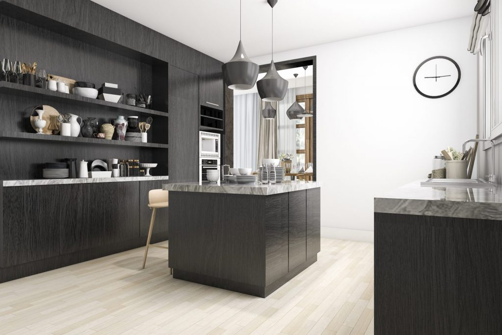 Elegant Black Kitchen Cabinet Ideas