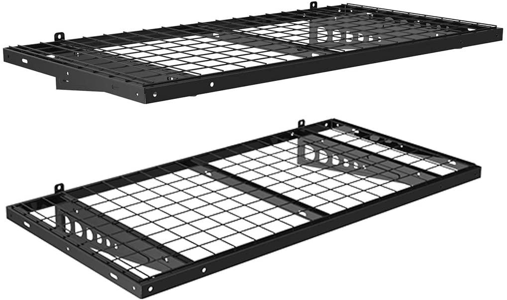 FLEXIMOUNTS 2-Pack 2x4ft Garage Wall Shelves