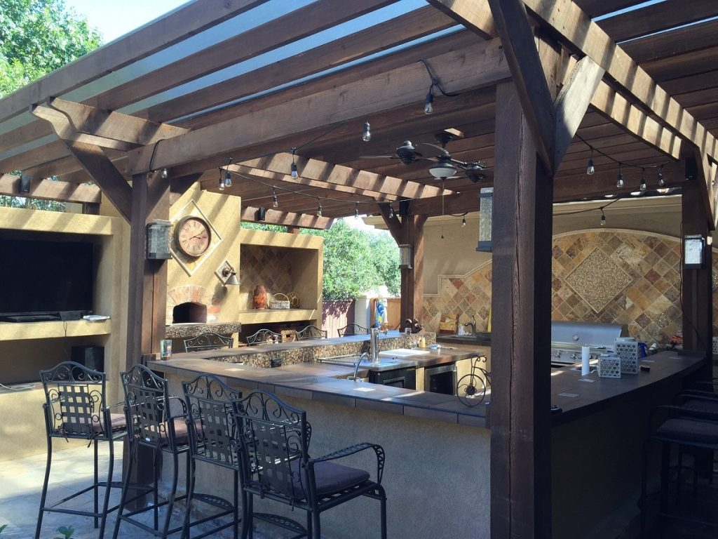 Food Preparation Station With Pergola