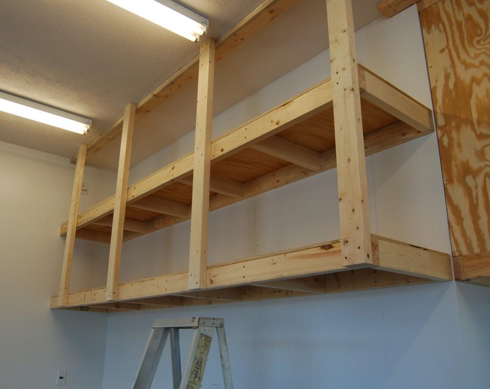 DIY Floating Garage Storage Shelves