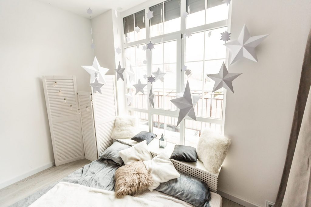 Hanging Stars And Paper Lanterns Add Charm And Character