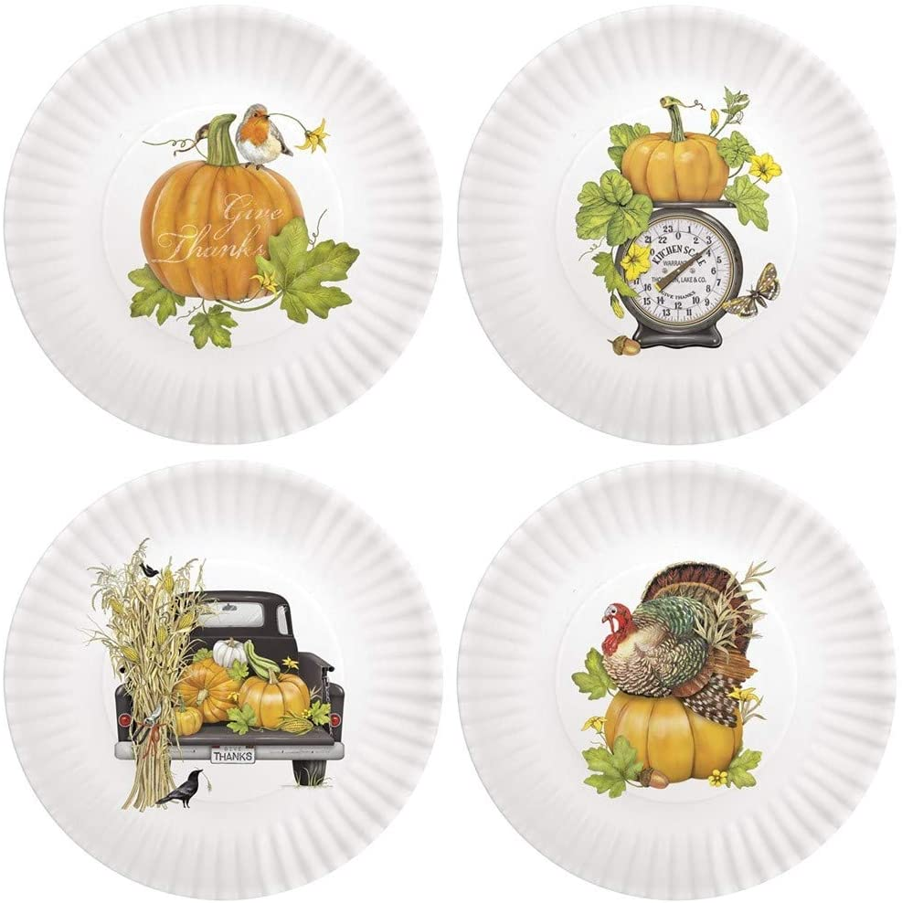 Melamine thanksgiving plates