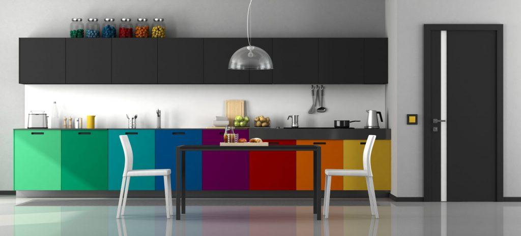 Multi-Colored Kitchen Cabinets