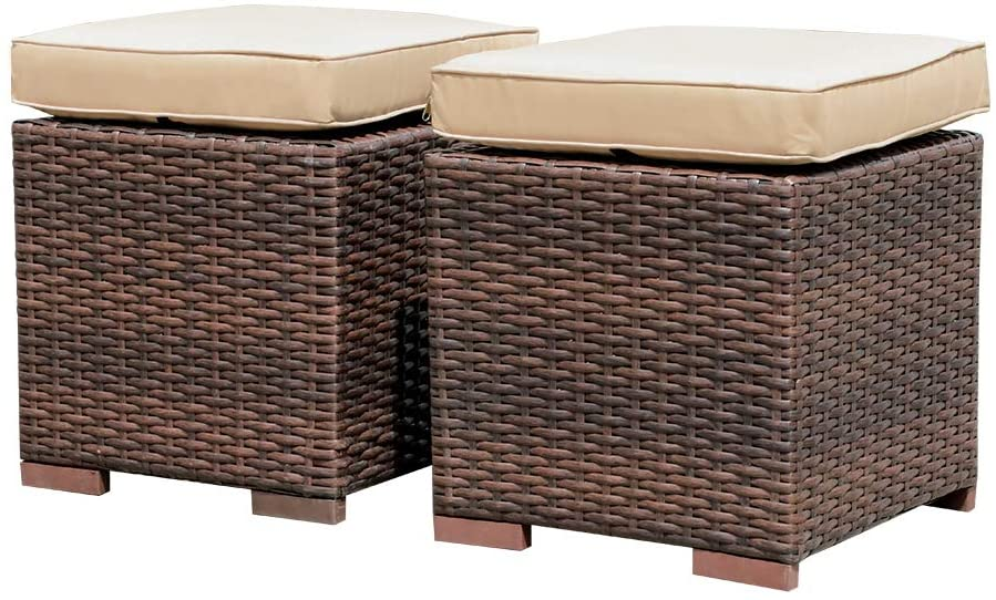 Patiorama 2 Pieces Outdoor Patio Ottoman
