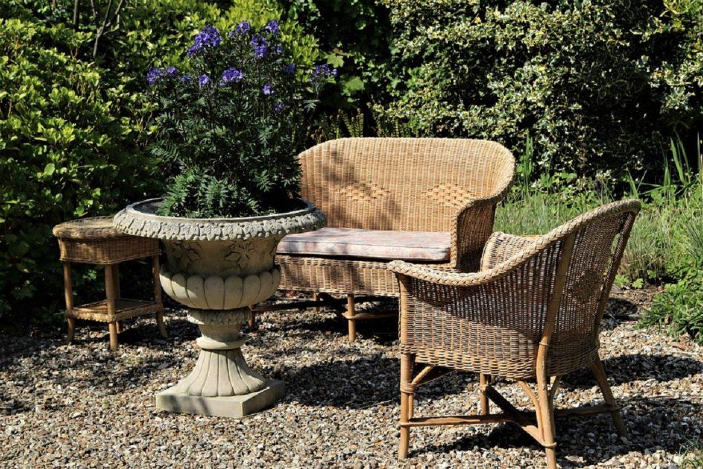 Rattan furniture in your lawn