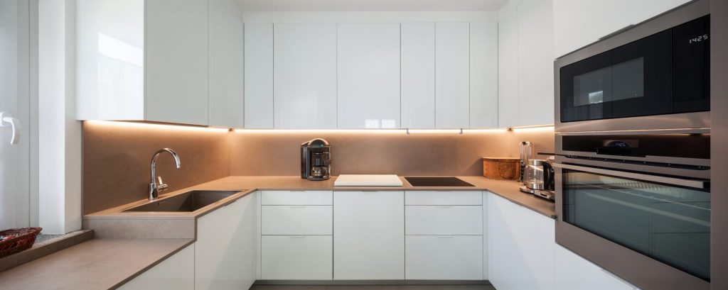 Place LED Lighting Underneath Your Kitchen Cabinets