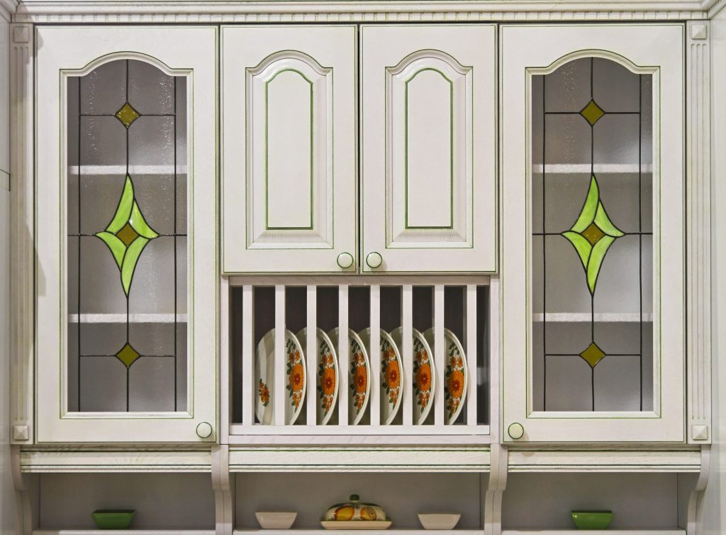 Stained Glass Kitchen Cabinet Design