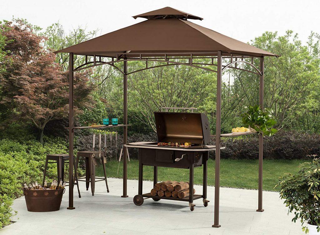 Sunjoy Double Tiered Canopy Grill Gazebo